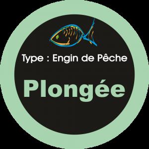Adhésif engins de pêche - Plongée vert clair sur Noir