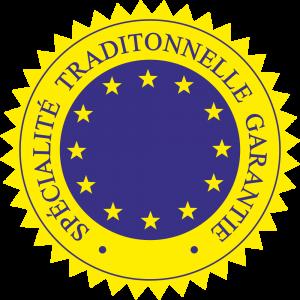 Adhésif label S.T.G bleu sur jaune