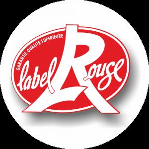 Adhésif Label Rouge rouge sur Blanc