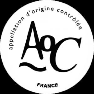 Adhésif Label A.O.C noir sur blanc