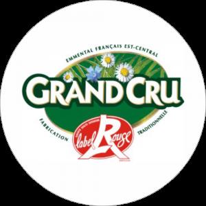 Adhésif Label Grand Cru Label Rouge vert et rouge sur blanc