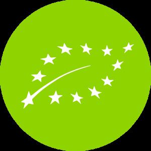 Adhésif feuille BIO Europe blanc sur vert