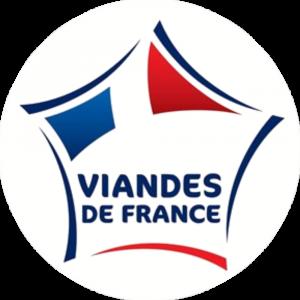 Adhésif Label Viandes de FRANCE bleu-blanc-rouge sur blanc