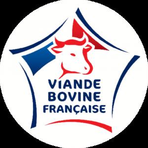 Adhésif Label Viande Bovine Française bleu-blanc-rouge sur blanc