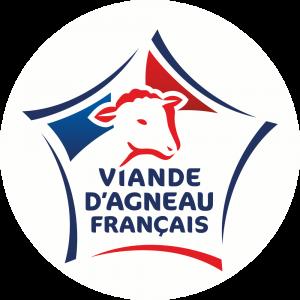 Adhésif Label Viande d'Agneau Français  bleu-blanc-rouge sur blanc