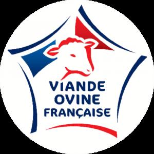Adhésif Label Viande Ovine Française  bleu-blanc-rouge sur blanc