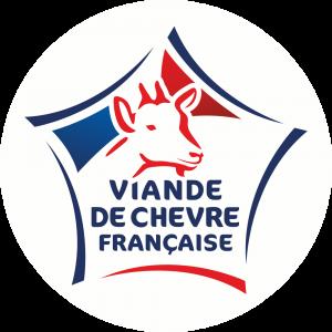 Adhésif Label Viande de Chèvre Française  bleu-blanc-rouge sur blanc