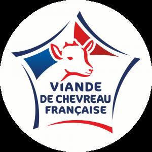 Adhésif Label Viande de Chevreau Française  bleu-blanc-rouge sur blanc