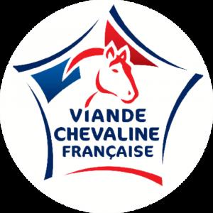 Adhésif Label Viande Chevaline Française  bleu-blanc-rouge sur blanc