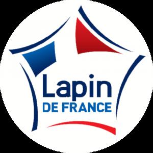Adhésif Label Lapin de FRANCE  bleu-blanc-rouge sur blanc