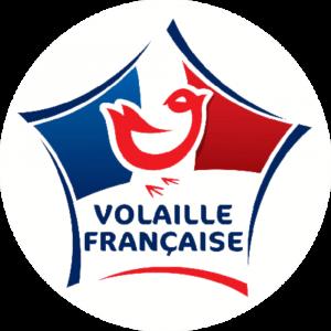 Adhésif Label Volaille Française  bleu-blanc-rouge sur blanc