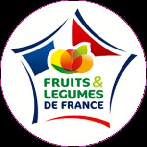 Adhésif Label Fruits & Légumes de FRANCE  bleu-blanc-rouge sur blanc