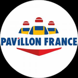 Adhésif Label Pavillon FRANCE  bleu-blanc-rouge sur blanc