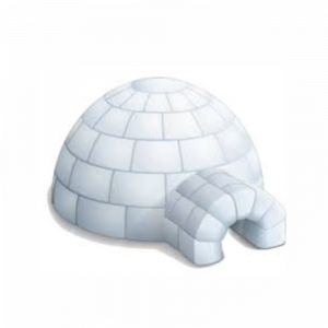 Adhésif Surgélation Igloo gris sur blanc