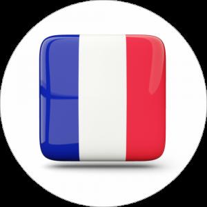 Adhésif drapeaux pays - France - bleu/blanc/rouge fond blanc