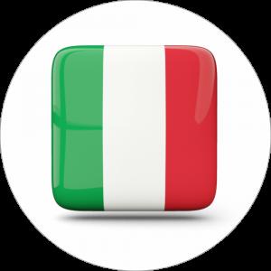 Adhésif drapeau pays - ITALIE - vert/blanc/rouge sur blanc