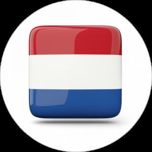 Adhésif drapeau pays - HOLLANDE - rouge/blanc/bleu sur blanc