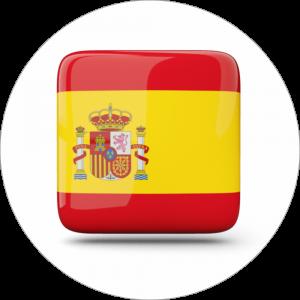Adhésif drapeau pays - ESPAGNE - rouge/jaune/rouge sur blanc
