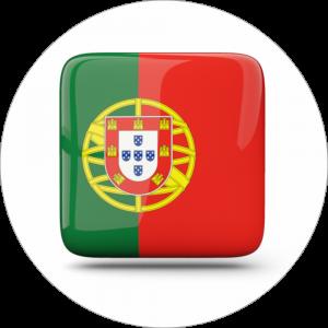 Adhésif drapeau pays - PORTUGAL - vert/rouge sur blanc