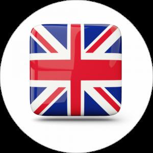 Adhésif drapeau pays - ANGLETERRE - bleu/rouge/blanc sur blanc