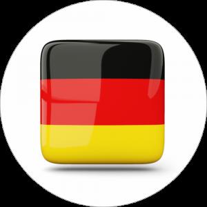 Adhésif drapeau pays - ALLEMAGNE - noir/rouge/jaune sur blanc