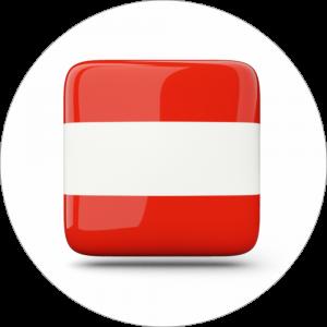 Adhésif drapeau pays - AUTRICHE - rouge/blanc/rouge sur blanc