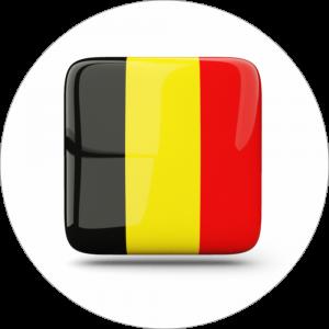 Adhésif drapeau pays - BELGIQUE - noir/jaune/rouge sur blanc