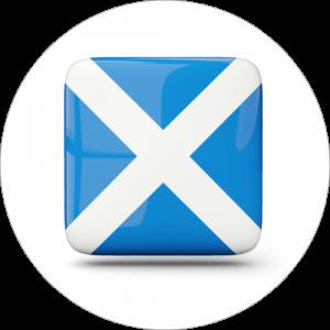 Adhésif drapeau pays - ECOSSE - bleu/blanc sur blanc