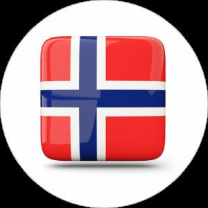 Adhésif drapeau pays - NORVÈGE - rouge/bleu/blanc sur blanc