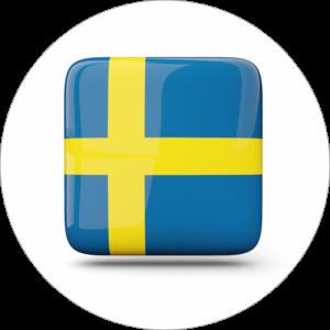Adhésif drapeau pays - SUÈDE - bleu/jaune sur blanc
