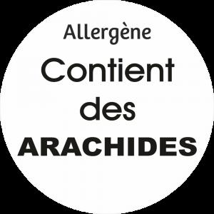 Adhésif allergène - Arachides - noir fond blanc