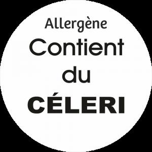 Adhésif allergène - Céleri - noir fond blanc