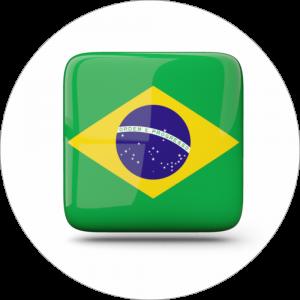 Adhésif drapeau pays - BRÉSIL - vert/jaune sur blanc