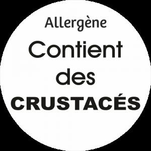 Adhésif allergène - Crustacés - noir fond blanc