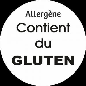 Adhésif allergène - Gluten - noir fond blanc