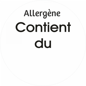 Adhésif allergène - Neutre - noir fond blanc