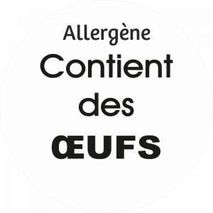 Adhésif allergène - Œufs - noir fond blanc