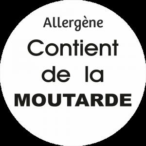 Adhésif allergène - Moutarde - noir fond blanc