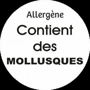 Adhésif allergène - Mollusques - noir fond blanc