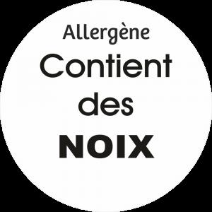 Adhésif allergène - Noix - noir fond blanc