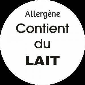 Adhésif allergène - Lait - noir fond blanc