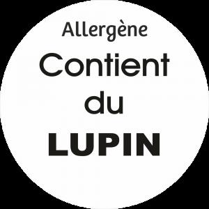 Adhésif allergène - Lupin - noir fond blanc