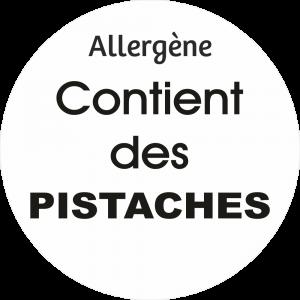 Adhésif allergène - Pistaches - noir fond blanc