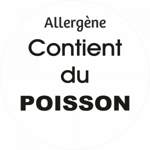 Adhésif allergène - Poisson - noir fond blanc