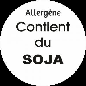 Adhésif allergène - Soja - noir fond blanc