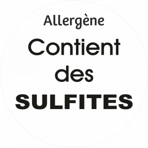 Adhésif allergène - Sulfites - noir fond blanc