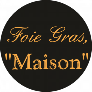 Adhésif Foie Gras Maison or sur noir