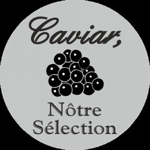 Adhésif Caviar nôtre Sélection noir sur gris