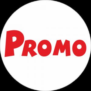 Adhésif Promo Rouge sur Blanc