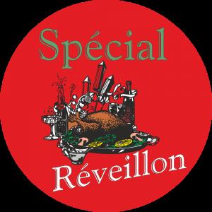 Adhésif Spécial Réveillon vert/noir/blanc sur rouge